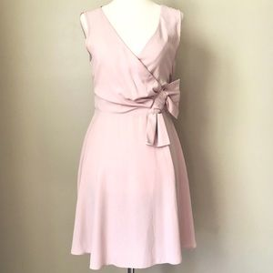 NWT ASOS Blush Pink Bow Waist Surplice Dress 4